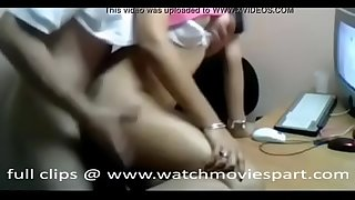 young indian girl having sex in office in his room