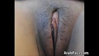 Arab Slut Teasing Her Beautiful Pussy